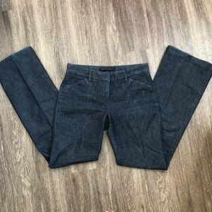 Express Editor Denim Flare Trouser Pants Size 2
